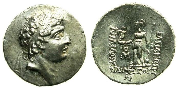 Ancient Coins - CAPPADOCIA.Ariarathes VII 116-101 BC.AR.Drachma.struck 108/109 BC.
