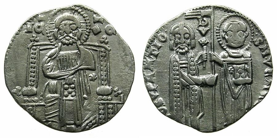 World Coins - VENICE.Giovanni Soranzo AD 1312-1327.AR.Grosso.