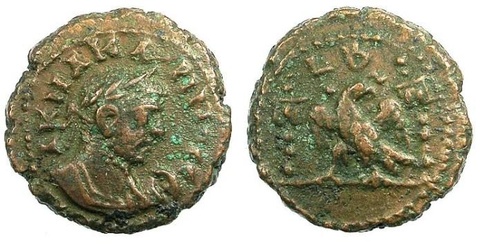 Ancient Coins - EGYPT ALEXANDRIA.Carinus AD 283-285.Bi.Tetradrachma.Eagle between vexillia