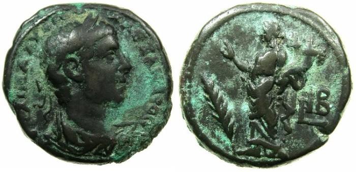 Ancient Coins - EGYPT.ALEXANDRIA.Severus Alexander AD 222-235.Billon Tetrdrachm, struck AD 232/33.~#~.Homonia holding double cornucopiae.