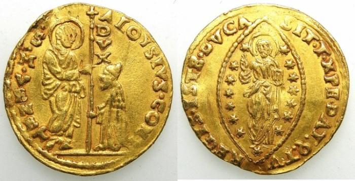 Ancient Coins - ITALY.Venice.Alvise Contarini 1676-1684.AV.Zecchino