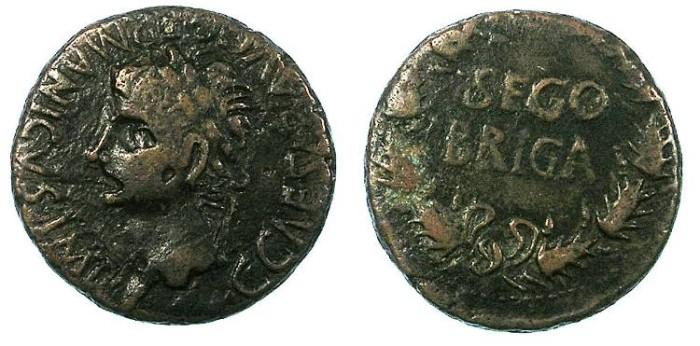 Ancient Coins - SPAIN.SEGOBRIGA.Carligula AD 37-41.AE.As ( 28mm ).