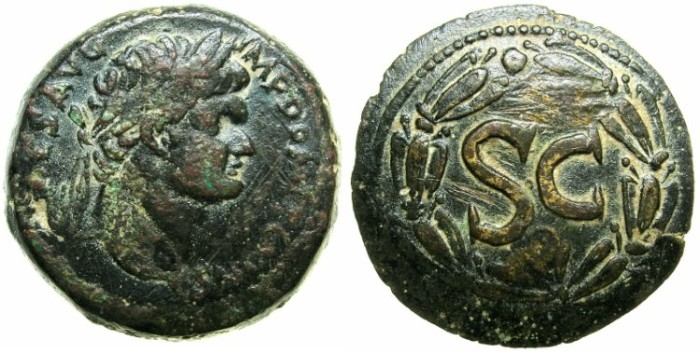 Ancient Coins - SYRIA.ANTIOCH.Domitian AD 81-96.AE.30.3mm.