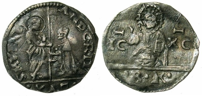 Ancient Coins - ITALY.VENICE.Andrea Gritti 1523-1539.AR.2 Soldi N.D. ( struck 1525 )