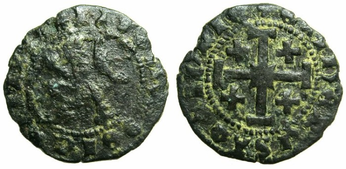 Ancient Coins - CRUSADER STATES.CYPRUS.James II AD 1460-1473.AE.Sezin.