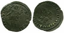World Coins - ITALY.PESARO.Guidobaldo II della Rovere AD 1538-1574.Billon Quattrino.Saint Terentius