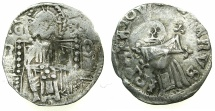 World Coins - SERBIA.Stefan Uros IV as King AD 1331-1345.AR.Dinar.with Bulgarian countermark Bird.