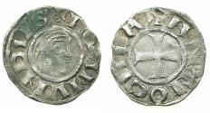 World Coins - CRUSADER STATES.Principality of ANTIOCH.Bohemond III AD 1149-1201.Bi.Denier.Class A.Minority issue AD 1149-1163.