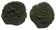 World Coins - CRUSADER STATES.CYPRUS.Peter II AD 1369-1382.AE. Denier.