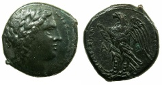 Ancient Coins - SICILY.SYRACUSE.Hiketas II 287-278 BC.AE.21mm.