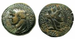 Ancient Coins - SYRIA.LAODICEA AD MARE.Domitian AD 81-96.AE.25.2 mm. Reverse.Bust of Tyche.