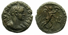 Ancient Coins - EGYPT.ALEXANDRIA. Claudius II Gothicus AD 268-270.Billon Tetradrachm, struck AD 269/70. ~#~.Nike advancing right.