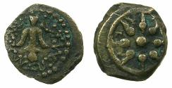 Ancient Coins - JUDAEA.Alexander Jannaeus ( Yehonatan ) 104-76 BC.AE.Prutah. Mint of JERUSALEM. Enigmatic Lightweight issue.