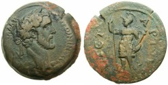 Ancient Coins - EGYPT.ALEXANDRIA.Antoninus Pius AD 138-161.AE.Drachma.struck AD 140/141.~#~.Aris standing.