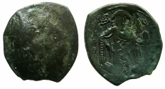 Ancient Coins - BYZANTINE EMPIRE.Michael VIII AD 1259-1282.AE.Trachy.Class XXIV.Mint of CONSTANTINOPLE