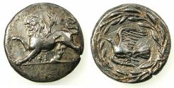 Ancient Coins - SICYONIA.Sikyon.Circa 431-400 C.BC.AR.Drachma. Chimaera. Reverse. Dove.