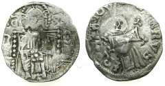 World Coins - SERBIA.Stefan VIII Uros IV as King AD 1331-1345.AR.Dinar.with Bulgarian countermark Bird.