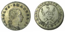 World Coins - ITALY.SAVOY.Coinage for SARDINIA.Carlo Emanuele IV AD 1796-1800.Billon.2.6 Soldi 1798.Mint of TURIN.