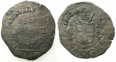 World Coins - ITALY.SAVOY.Carlo Emanuele I AD 1580-1630.Billon 6 Soldi. 1629. overdate 9 over 8. Mint of CHAMBERY