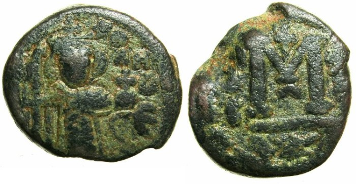 Ancient Coins - ARAB-BYZANTINE.HIMS ( EMESSA ).Anonymous AE.Fals.Contemporary copy.