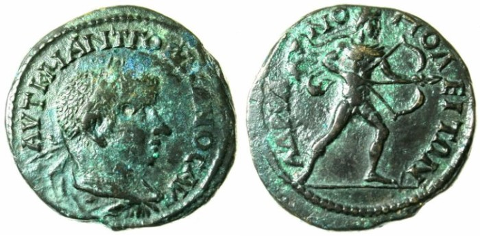Ancient Coins - THRACE.HADRIANOPOLIS.Gordian III AD 238-244.AE.26.Naked Apollo drawing bow