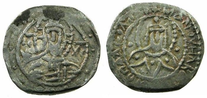 Ancient Coins - BYZANTINE EMPIRE.Manuel II Palaeologus AD 1391-1423.AR.Half Stavaton.Mint of CONSTANTINOPLE.