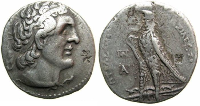 Ancient Coins - PTOLEMAIC EMPIRE.CYPRUS.Ptolemy II Phiadelphus 285-246 BC.AR.Tetradrachm.Mint of KITION ( or PAPHOS ).