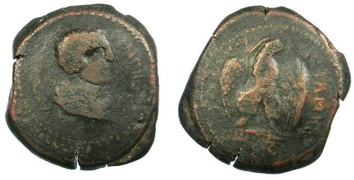 Ancient Coins - CILICIA.Antiochia ad Cragum.Valerian AD 253-260.AE.32mm.Rev.Eagle