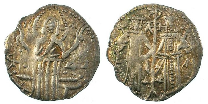 Ancient Coins - BULGARIA.Ivan Alexander 1331-1371.AR.Grosch. 2nd type; with his son Michael Asen 1331-1355.