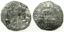 World Coins - SERBIA.Stefan Uros IV as Tsar AD 1345-1355.AR.Dinar with Bulgarian countermark Bird.
