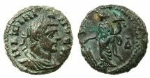 Ancient Coins - EGYPT.ALEXANDRIA.Maximianus Gallerius AD 293-311, as Caesar AD 293-305.Billon Tetradrachm, struck AD295/6.~#~.Tyche standing left holding rudder.