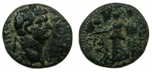 Ancient Coins - PAMPHYLIA.SIDE.Domitian AD 81-96.AE.18.3mm.~#~.Athena.