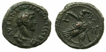 Ancient Coins - EGYPT.ALEXANDRIA.Gallienus AD 253-268.Billon Tetradrachm, struck AD 265/66.~#~.Eagle on thunderbolt.