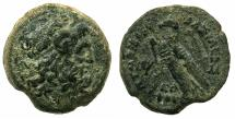 Ancient Coins - PTOLEMAIC EMPIRE.CYPRUS.Ptolemy VI 1st period 180-170 BC.AE.27mm.~#~.Lotus before eagle, Seleucid anchor countermark.