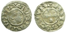 World Coins - CRUSADER.ANTIOCH.Bohemond III AD 1149-1201.Bi.Denier.Class A.Minority issue AD 1149-1163.~~~Style of head Type 2.