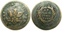 World Coins - ITALY.Kingdom of SICILY.Ferdinand III ( IV of Naples ) 1759-1816.AE.Grano 1776.