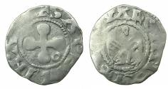 "World Coins - CRUSADER.1st crusade.""ERAT HAEC NOSTRA moneta"" preferred coinage.Bishops of Valence.Billon Denier."