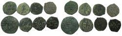 World Coins - ARMENIA, cilician kingdom. Group of eight copper coins.