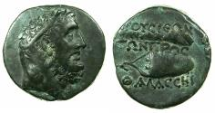 Ancient Coins - BITHYNIA.PRUSIA AD MARE.Circa 2nd-1st cent BC.AE.26mm. Herakles. Reverse.Club and bow case.