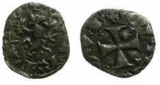 World Coins - ITALY.GENOA.1st Republic AD 1129-1339.AE.Quartaro. ***RARE *** Ex.Boyd Collection.