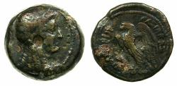 Ancient Coins - PTOLEMAIC EMPIRE.EGYPT.ALEXANDRIA.Ptolemy V Epiphanes  205-180 BC.AE.19.6mm. Bust of Isis.
