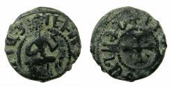 World Coins - ARMENIA, Cilician kingdom. Levon III 1301-1307.AE.Kardez.Mint of SIS.obverse.Inverted L of LEVON