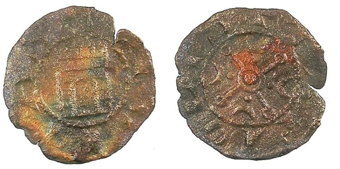 Ancient Coins - CRUSADER.County of Tripoli.attributed to Raymond III c.1173/4-1187.AE.Castle type.1b.