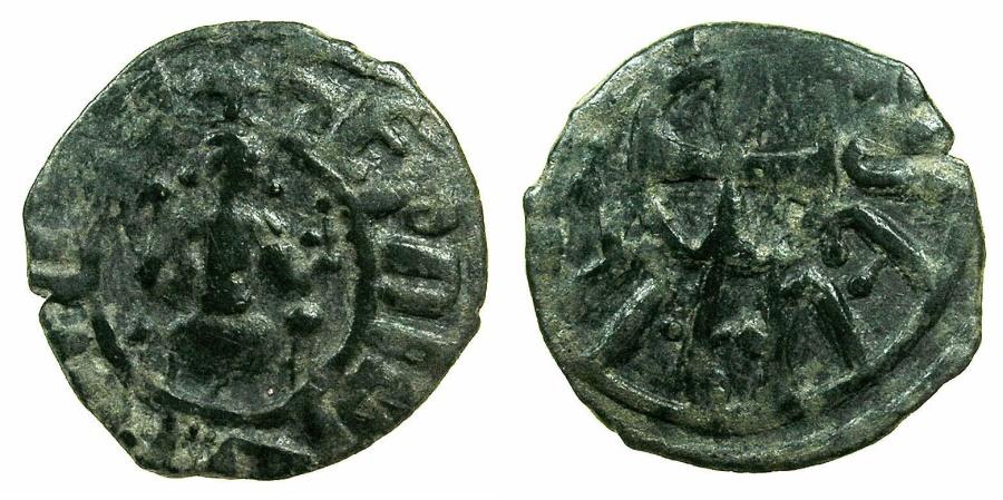 World Coins - ARMENIA, Cilician kingdom. Hetoum II AD1289-1293, 1295-1296, 1301-1305.AE.Kardez.Mint of SIS.