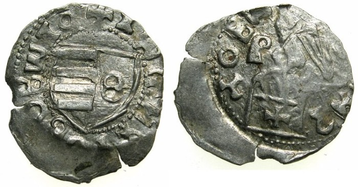 Ancient Coins - ROMANIA.VOIVODES OF WALLACHIA.Mircea cel Batan AD 1368-1418.AR.Dinar.Sigla Theta / P