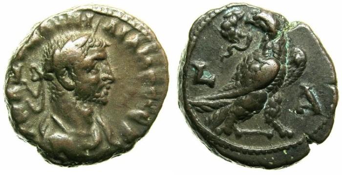 Ancient Coins - EGYPT.ALEXANDRIA.Aurelian AD 270-275.Billon Tetradrachm.AD 270/271.Eagle.