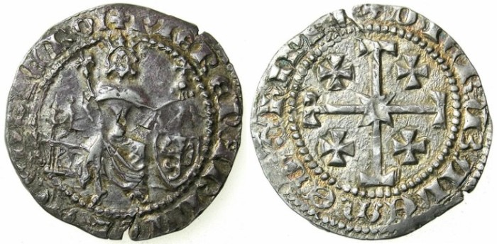 Ancient Coins - CRUSADER.CYPRUS.Peter II AD 1369-1382.AR.Gros Grand.
