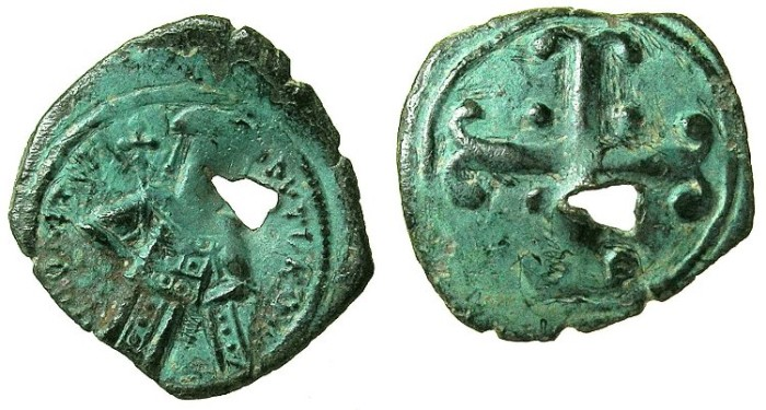 Ancient Coins - BYZANTINE EMPIRE.Andronicus III AD 1328-1341.AE.Assarion.Mint of CONSTANTINOPLE.