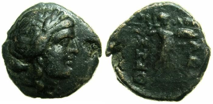Ancient Coins - GREECE.THESSALIAN LEAGUE.AE.19.2mm.struck circa 196 - 146 BC.