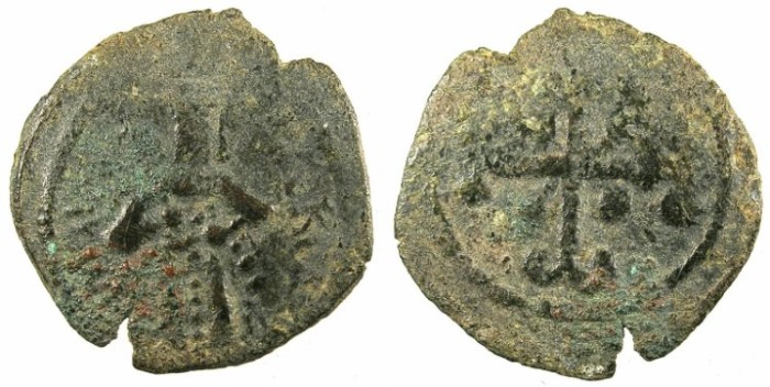 Ancient Coins - BYZANTINE EMPIRE.Andronicus III Paleologus AD 1328-1341.AE.Assarion.Mint of Constantinople.